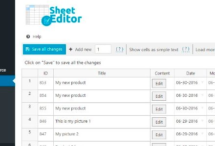 WP Sheet Editor Categories and Tags Pro v1.5.13 - WordPres批量编辑器-学课SEO
